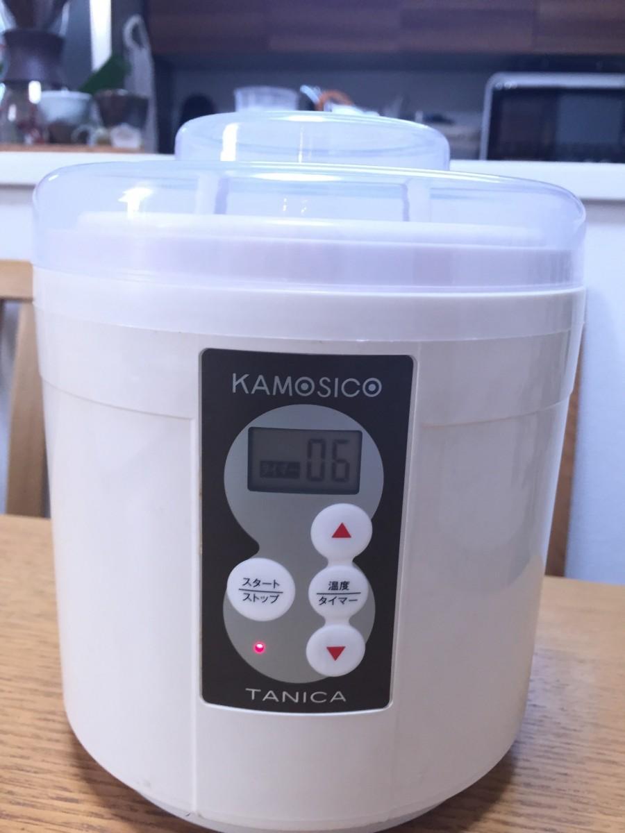 KAMOSICOにセットして、温度60度、6時間でスタート!